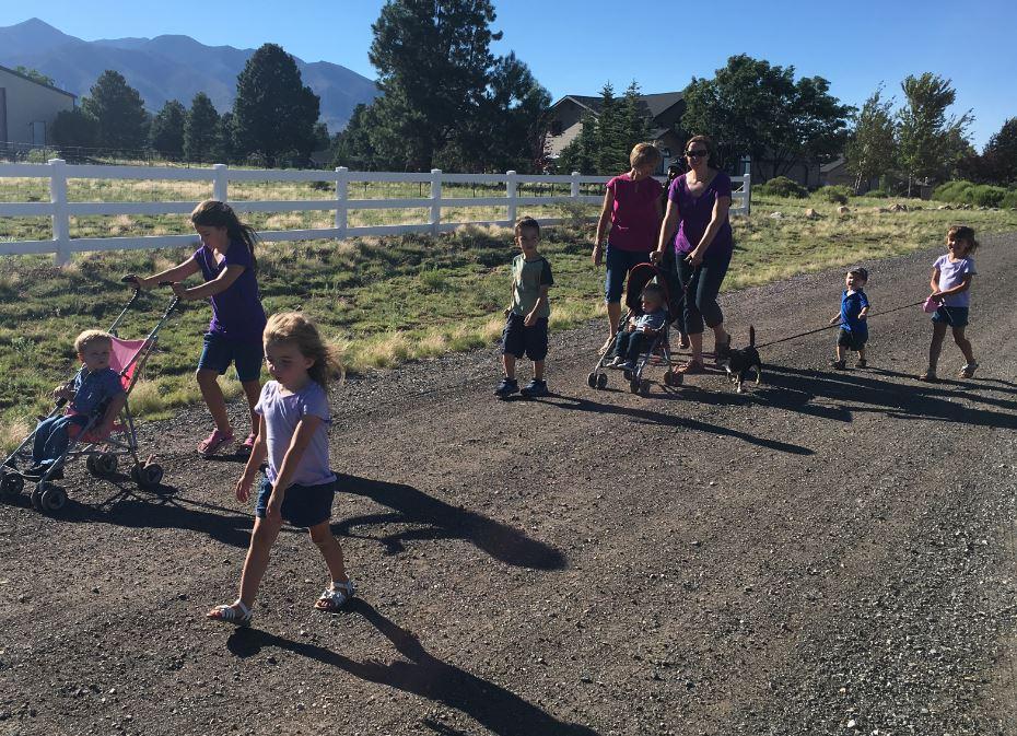 walking with grandkids
